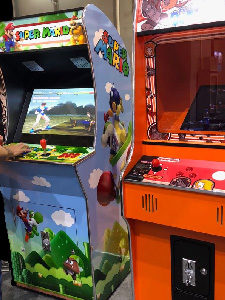 Classic video arcade